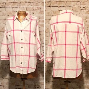 Vintage Diane Von Furstenberg Plaid Button Down